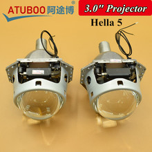 "Buy 2pcs/Lot Universal 3.0"" Bi-xenon Hella 5 Car Projector lens H7 H4 9006 Headlight Metal Holder Use 5500k Special Xenon bulb for $61.88 in AliExpress store"