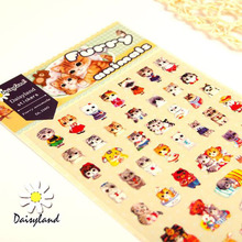 Cat Sticker Korean Stationery Photo Album Decor Kawaii Stationery Gift Material Escol Post It Bookmark DD866