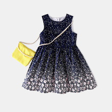 2017 new popular kids summer cute star Girls Priness party dress play suite Children Clothes Fashion sets Baby Girls for gift