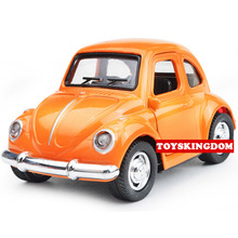 Classic 1:38 scale mini diecast Vintage cars mini coopers Volkswagens Beetle Chevrolets pull back alloy toys with light & sound(China)