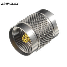Astrolux S41S Stainless Steel LED Flashlight Whole Tail Cap led torch tail cap light accessory For DIY