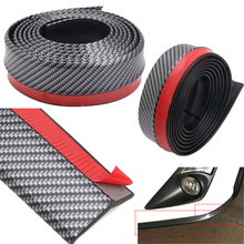 PVC 2.5M Universal Car Front Rubber Bumper Lip Splitter Skirt Protector Strap Scratch Resistant Decoration