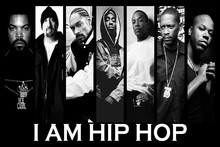 I am Hop Rap, Ice Cube 7 In 1 Black And White Photo Music Singer Poster Fabric Silk Posters And Prints For Home Decoration(China)