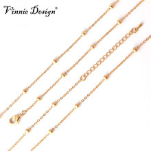 Vinnie Design Jewelry 2017 Newest 3.5mm Ball Chain for Coin Pendant Silver Gold Rose Gold Rolo Chain Necklaces 80cm