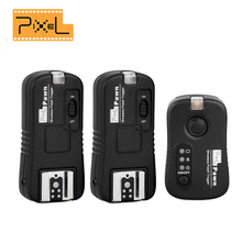 Pixel TF-361 Wireless Flash Trigger 1x Transmitter +2x Receivers for Canon 6d 650d d7000 1100d 550d 60d 7d AS RF-602 RF-603 II(China)