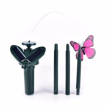 Solar Flying Butterfly Artificial Fluttering Solar Energy Flying Simulation Butterfly Garden Decoration(China)