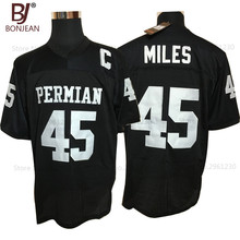 BONJEAN Cheap Boobie Miles 45 Friday Night Lights American Football Jerseys Throwback Stitched Black Mens Jersey