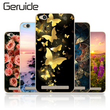 Geruide Xiaomi Redmi 5A Case Cover, Fashionable Soft TPU Silicone Back Cover Cases For Redmi 5A 5.0inch Cell Phone Cases(China)