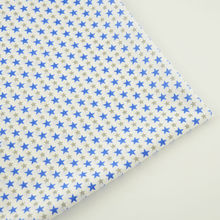 Cotton Fabric Home Textile Sewing Fabric Beige Printed Blue and Gray Star Designs Cloth Dolls Tecido Tela Plain Crafts Patchwork(China)