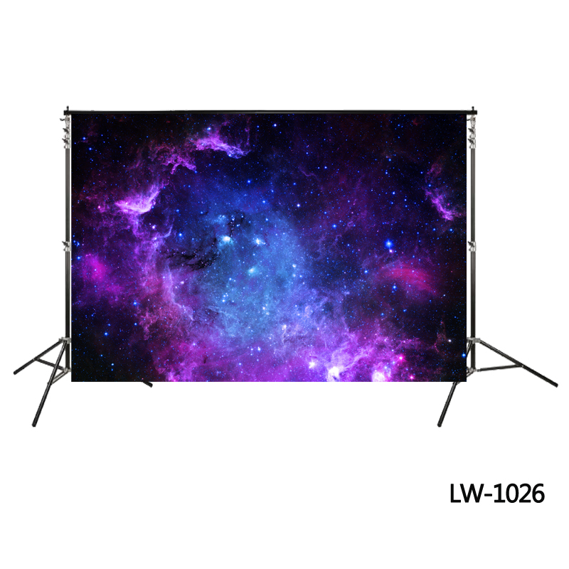 purple-space-background blue universe backdrop Outer Space Backdrop Sky Galaxy Science Fiction backdrop photo booth background