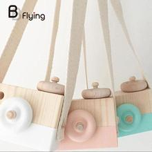 Free Shipping Wooden Camera Toy Children's Travel Home Decor Gifts For Children Kids(China)