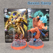 15cm Dragon Ball Freezer VS Goku Z Resurrection F Super Saiyan God goku Gold Frieza Battle Ver PVC Action Figure Model Toy Gift