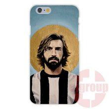 Soft TPU Silicon Pattern Phone Pirlo Juventus Football For Samsung Galaxy S2 S3 S4 S5 S6 S7 edge mini Core 2 Alpha Grand Prime