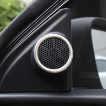 Trim Fit For Corolla S LE 2014 2015 2016 New Corolla Hybrid Stainless steel car stereo audio speaker cover ring sticker