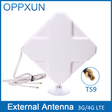 TS9 4G antenna 4G LTE antenna 3G antenna 35Dbi 4G LTE external antenna with 2m cable for Huawei Router Modem