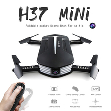 New JJRC H37 Elfi Mini Dron with Camera HD G-Sensor Control 720P WIFI PFV Altitude Hold Selfie Drone Foldable RC Quadcopter(China)