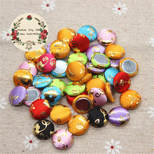 13mm 50pcs Mix Colors Bronzing Pattern Fabric Covered Round Button Flatback DIY Decoration Buttons Scrapbooking,BK1032