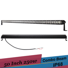 250W Combo LED Light Bar Off Road 4x4 50 Inch LED Work Light for Jeep 07 JK Wrangler 2 Door 2012 Ford SUV ATV Truck Car Boat DRL