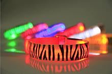 10pcs/lot Glowing Bracelet Led Nylon Zebra Print Light Nocturnal Warnings Ring for Sports Running Cycling Gear Glowing Armband