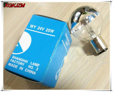 Hot sale! New 24V 25W Medical shadowless lamp Single hole cold light bulb Surgical light bulbs  Insert button