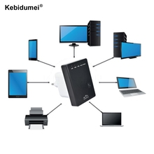 kebidumei Fashion 802.11N mini Wifi Repeater Wireless-N AP Range Extender 300Mbps Booster Signal Amplifier wlan EU/US