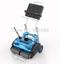Robotic pool cleaner,swimming pool robot vacuum cleaner,swimming pool cleaning equipment with caddy cart and CE ROHS SGS(China)
