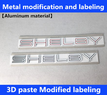 Free shipping Auto Red/black silver SHELBY GT500 for 07-09 MUSTANG GT500 Cobra Emblem Badge Sticker