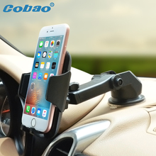 Cobao Universal Dashboard Car Mobile Phone Holder Stand Windshield 360 Adjustable Smartphone Car Holder Mount for Huawei iPhone(China)