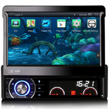 "Free Map 1din Car Radio DVD Player With USB Ports GPS Bluetooth Android 4.4.4 System Detachable Panel 7"" Touch Screen"