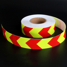 5cm Fluorescent Light Green & Red Arrow Reflective Tape Sticker Car Vehicle Truck Roadway Parking Reminding Sign Warning Decal(China)