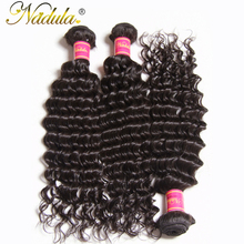 Nadula Hair Company Malaysian Deep Wave Hair Non Remy Hair Extensions 100% Human Hair Weave Bundles 12''~26'' inch Can be mixed