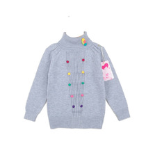 Winter Girls Cardigan Sweater Kids Knitted High Quality Turtleneck Fashion Casual Childrens Warm Sweater Toddler Pull Fille