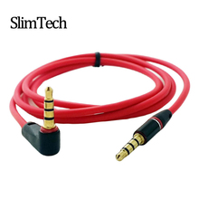 10cm 90 Degree Angled Short 4 pole 3.5mm to 3.5mm Audio Cable Plug jack 3.5 male to male Car Sound Wire headphone for iPhone 4s