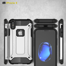 Buy Fitted Case iPhone 8 Edition 5.8 Inch 2 1 Hard Anti Knock Plastic Silicon Back Hybrid Phone Bags Cases iPhone 8 Capa for $3.79 in AliExpress store