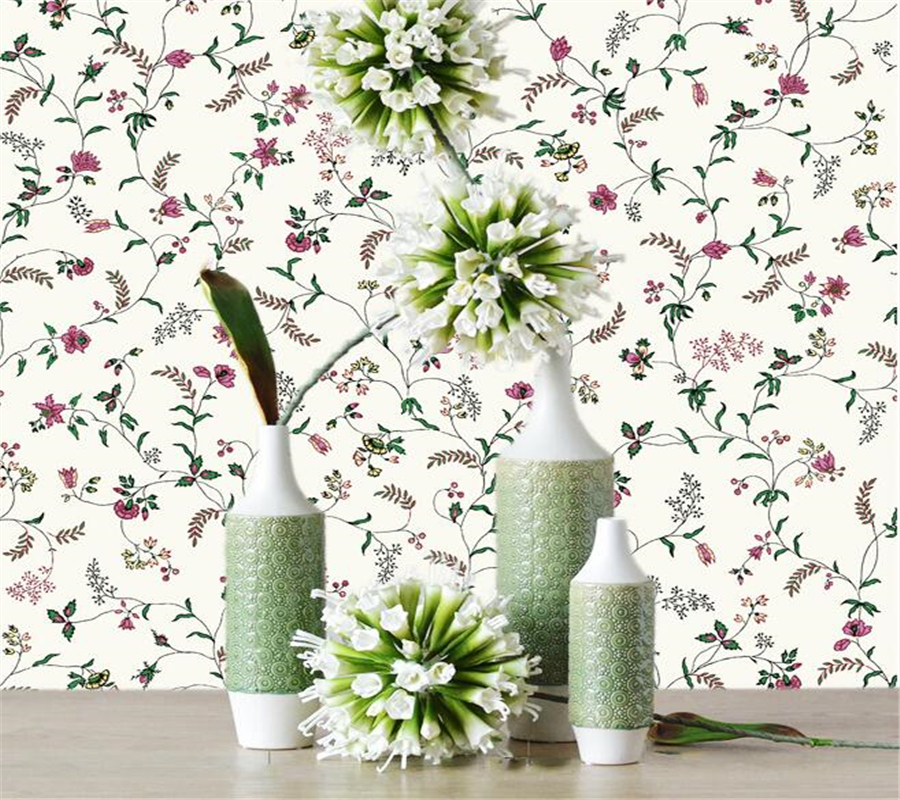 Beibehang Decoration wallpaper garden flowers fresh pure paper wallpaper living room TV background 3d wallpaper papel de parede<br>