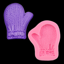 Christmas Glove Shape Chocolate Candy 3d Silicone Mold Cartoon Image Cake Decoration Baking Tool Soap Mold Sugar Craft(China)