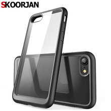 "HOT Fashion Shockproof Clear Case Caso For iPhone 7 4.7"" Rugged Armor Hybrid Cover For iPhone7 Capa Shock Phone Bags Shell"