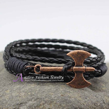 LOW0239LB PersonalitIed Design Hatchet Axe Silver Plated New Bracelets 60cm Multilayer Christmas Gift  For Lovers Free Shipping