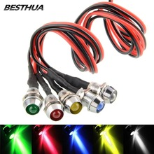 5PCS Red White Yellow Blue Green 6mm LED Indicator Light Lamp Bulb Pilot Dash Directional Car Truck Boat 12V Colours(China)