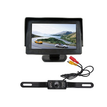 "New Hot 4.3 ""Car TFT high definition Support vehicle display + 7 lamp CCD infrared waterproof Auto cable camera"