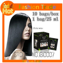 25mlx10 bag Hair Color Permanent Hair Dye shampoo repair the scalp 5 mins herb natural faster black hair Restore blacken shampoo