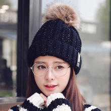 2017 new arrival fashion womens slouchy beanie hat spring winter cute hats lined warm knit hipster beanies for sale fur pompom