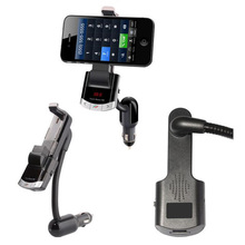 Multi Bluetooth Car Kit Phone Holder Original BT8118 BT Handfree Calling FM Transmitter with USB Charger Support Music Playing(China)