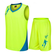 2017 New Kids Basketball Jersey Sets Uniforms kits Child Boys Girls Sports clothing Breathable Youth basketball jerseys shorts(China)