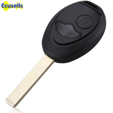 5PCS/LOT replacement Key Shell Case Uncut Blade Blank Car Key Shell Case Remote Control Suitable for BMW Mini Cooper 2002-2005(China)