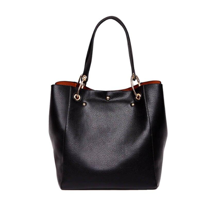 LEDANI Brand New Women PU Leather Handbag Brief Shoulder Bags Female High Capacity Big Handbags Tote Bags Four Colours Hobos<br>