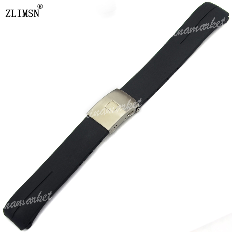 21mm MEN Black Silicone Rubber Strap Sport Watch Band With Deployment Clasp Women Watch Watches Rubber Relojes Hombre 2017<br><br>Aliexpress