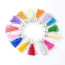 10pcs 4.3cm Tassel Vintage Nylon Tassels Fringe for Purl Macrame DIY Jewelry Keychain Cellphone Straps Pendant(China)