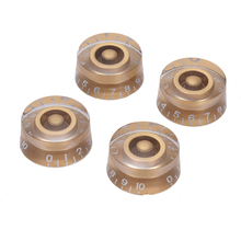 4pcs Speed Volume Tone Control Knobs for Gibson Les Paul Guitar Replacement Electric Guitar Parts Golden(China)