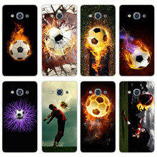 G98 Fire Football Soccer Ball Transparent PC Hard Case Cover For Samsung Galaxy J 3 5 7 A 3 5 7 2015 2016 GRAND 2 PRIME